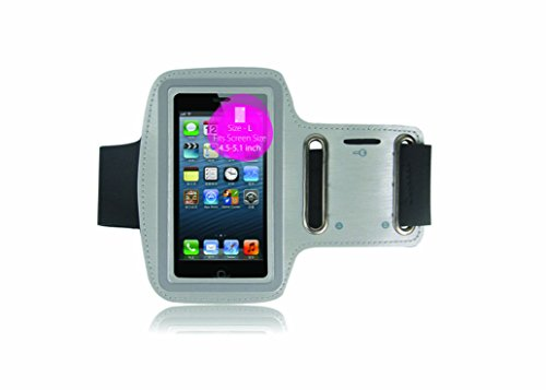 "Noise Gym Sports Armband-Wrist Band-Mono Trendy and Functional Sports Armband Medium Screen Size (4.5"" to 5.1"") SmartPhone(GREY)"