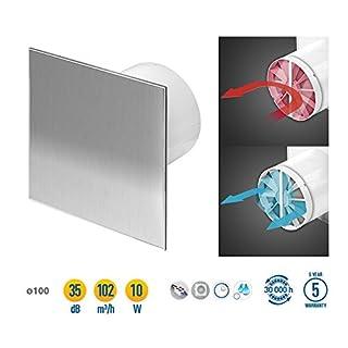 Stainless Steel Bathroom Extractor Fan 100mm / 4