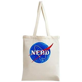 Nasa Funny Logo Nerd Tote Bag