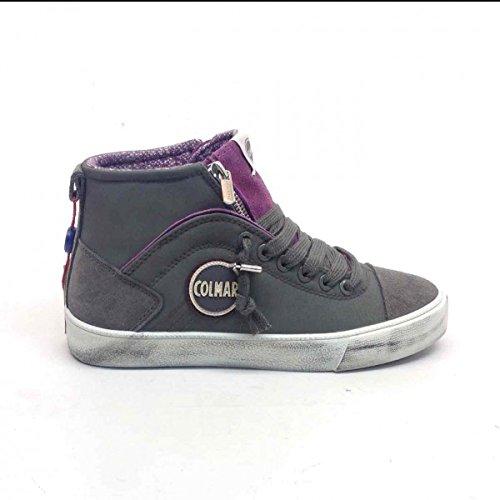 COLMAR Durden Colors sneakers zip sportiva ECO PELLE GREY MAUVE 061 37