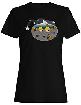 Divertido smiley bola muñeco camiseta de las mujeres a194f