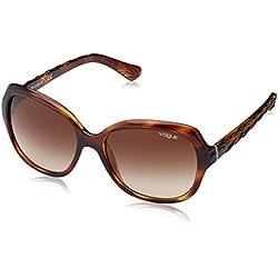 Vogue 0Vo2871S Gafas de sol, Striped Dark Havana, 56 para Mujer