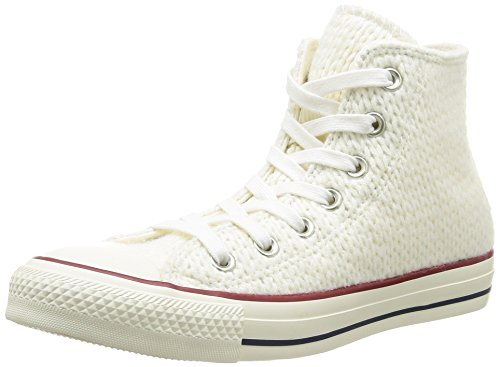 Converse All Star Hi Wool-winter Knit, Hi-Top Sneakers femme White/Egret