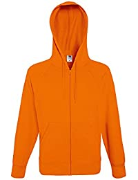 Fruit Of The Loom Mens Lightweight Hooded Zip Sweat Jacket
