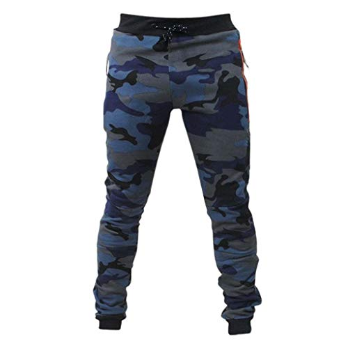 Bragas para hombres Pantalones Chandal Hombre BBestseller Casual Pantalón de Camouflage Pantalones...
