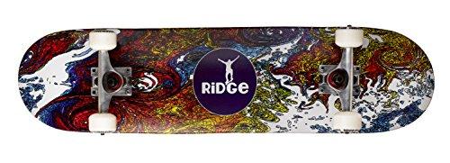 Ridge Skateboard Doppel Kick Trick Ahorn Concave Board, Mehrfarbig, MR31-CONCAVE