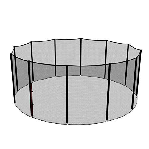 Ampel 24 Ersatz Sicherheitsnetz für Trampolin Ø 460 cm, Ersatznetz für 12 Stangen, Gartentrampolin Netz außenliegend, reißfest, UV-beständig