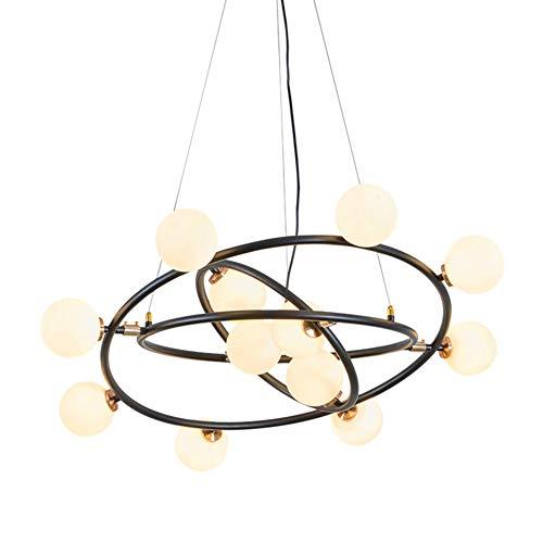 LRXHGOD 12 Moderno Anillo de la lámpara LED Colgante Industrial luz de...