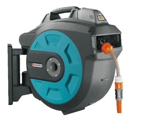 8025-20 Schlauchbox Comfort 35 roll-up automatic Li; zur Wandmontage (Einzug über Lithium Ionen Akku per Tastendruck; Box um 180 Grad schwenkbar) Schlauchlänge 35 m