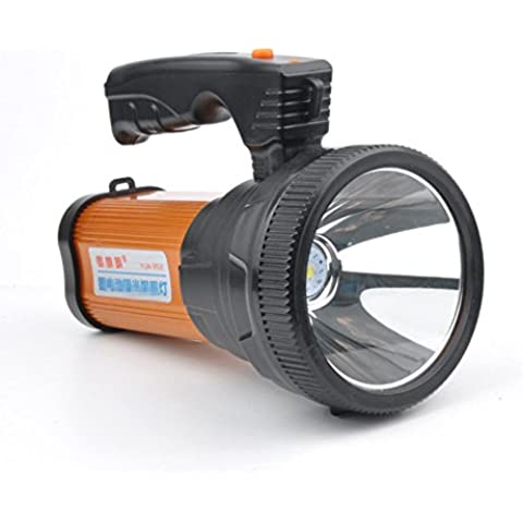 Torcia batteria esterna LED Spotlight dimmerabile 12W proiettore LED Lanterna da campeggio, 9000mAh Power banche xagoo® zona fascio di alto impermeabile torcia a LED