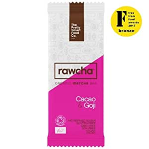 RAWCHA® CACAO & GOJI ORGANIC MATCHA BARS (30G) - BOX OF 20