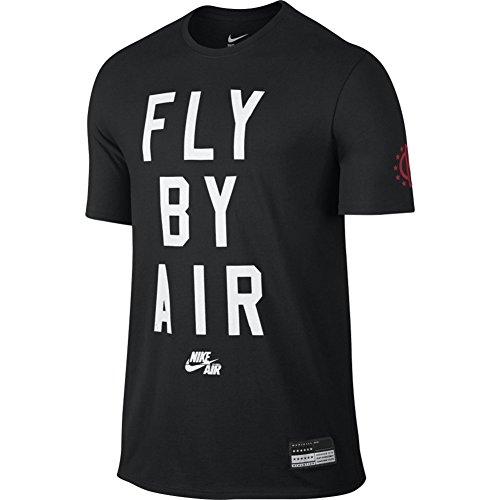 Nike NIKE AIR FLY BY TEE - Kurzärmeln T-Shirt Schwarz - L...