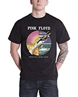 Pink Floyd T Shirt Mens Black Wish You Were Here circle band logo new official