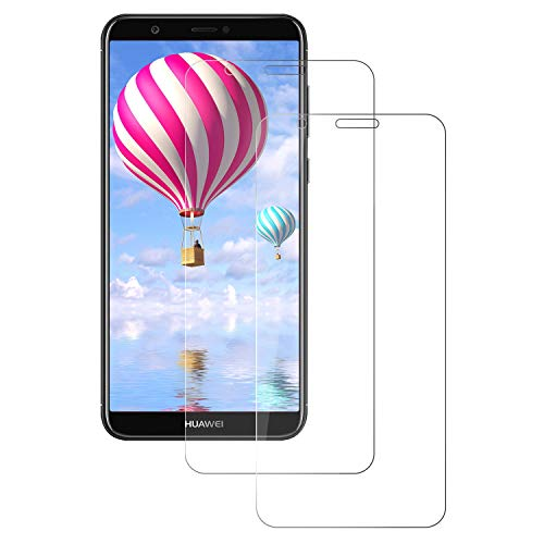 DONSTO Huawei P Smart 2018 Displayschutzfolie, [2-Pack] [9H-Härte] [2,5D-Bogenkante] [Bruchsicher] [3D-Touch] [High Definition] Panzerglas Screen Protector Glass