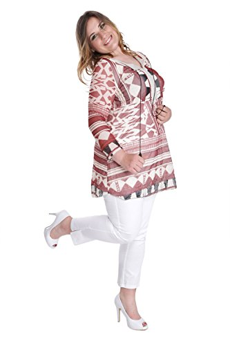 BLEE KLUM Damen Tunika Kleid Beige Beige Beige - Beige