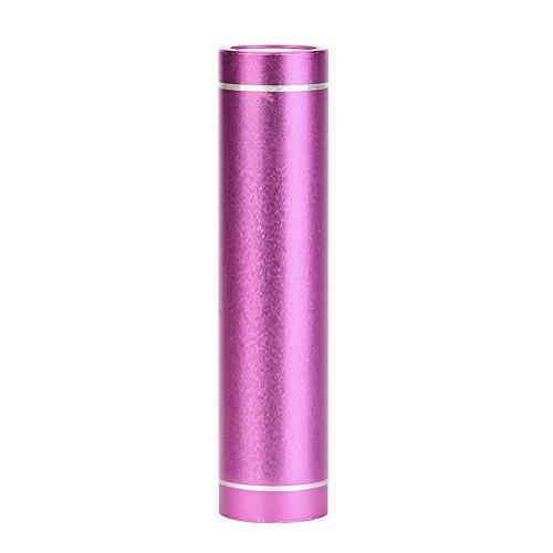 3000mAh Lippenstift mini mobile Macht, kingko Portable externe USB Power Bank Box Ladegerät für Handy (Heißes Rosa) (Rosa Mädchen Lippenstift Mit)