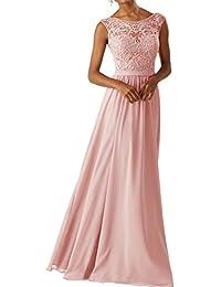 RJOAMEUDRESS Frauen Chiffon Brautjungfer Kleider Sleeveless Lange Prom  Abendkleider 0ee04c6f31