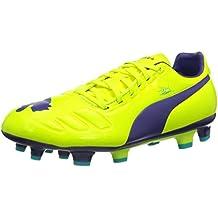 Amazon.es  Botas Futbol Puma - Amarillo ce38ad2c3eb26