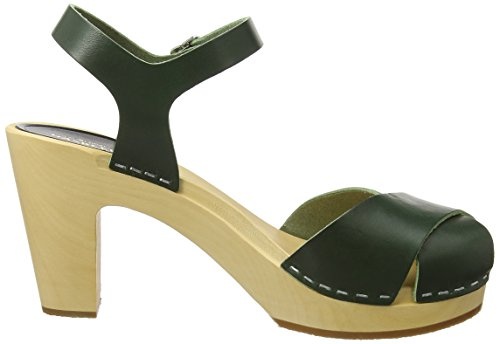 ... Swedish Hasbeens Merci, Scarpe Spuntate Donna Green (Deep Green)