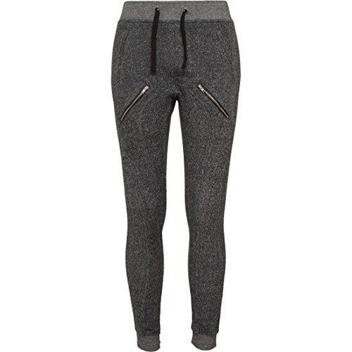 Urban Classics Ladies Zipped Melange Sweatpants Pantaloni jogging nero XL
