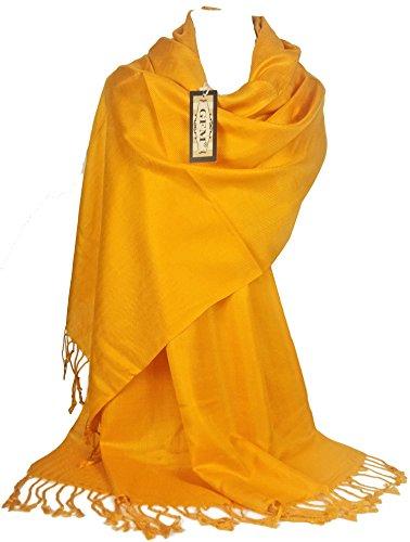 GFM Fastglas liss'au toucher Ultra doux Style cachemire Pashmina Écharpe de portage B9BRGSN - Bright Gold