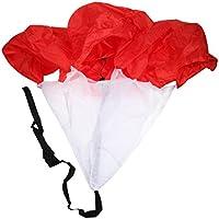 Velocidad De Carrera Tolva De Alimentación De Fútbol Entrenamiento Resistencia Paracaídas Rojo