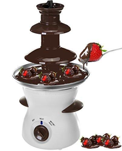 camry CR4457 Fuente de Chocolate CR-4457, 80 W, 0.5 litros, 0 Decibeles, Blanco