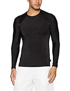 Lycot Polyester Compression Full Sleeve Top, Small (Black)