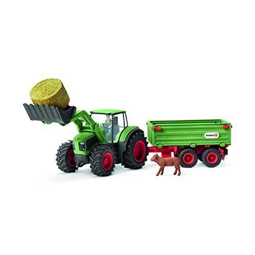 Schleich 42379 - Traktor mit Anhänger - Spielzeug