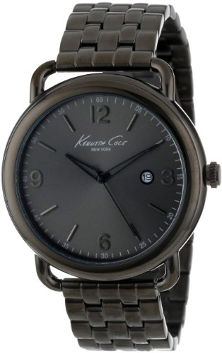 Kenneth Cole New York Men's KC9256 Modern Core Triple Black Analog Date Bracelet Watch