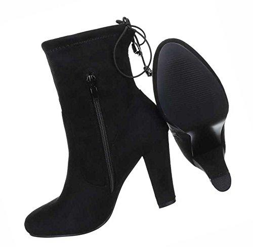 Stiefeletten Damen Heels 41 38 Schwarz High 40 39 Boots Schuhe 37 36 Grau Rot Trn6WIrx