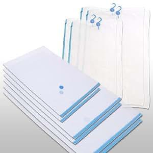 10er Pack Vakuumbeutel zur Kleideraufbewahrung Mix-Set in 5 verschiedenen Größen