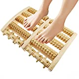Itscool Fußmassageroller, Fußmassagegerät aus Holz, zur Stresslinderung von Plantarfasziitis, Reflexzonenwerkzeuge, gesunde Kirschholz-Fußmassagegerät für Fuß und Rücken