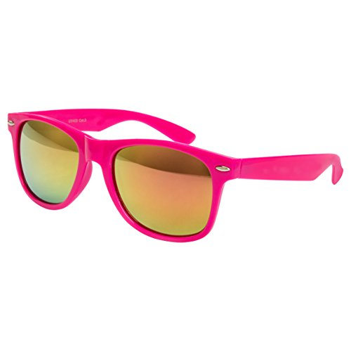 Ciffre Nerdbrille Sonnenbrille Stil Brille Pilotenbrille Vintage Look PINK Feuer
