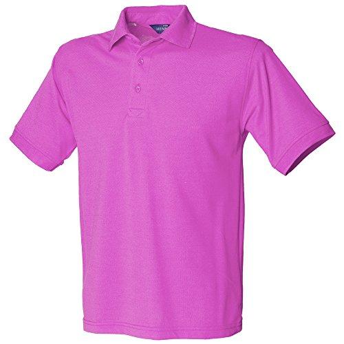 Henbury Herren Polo Shirt Kurzarm Magenta