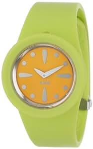 Alessi Unisex-Armbanduhr Analog Automatik Kunststoff gelb AL1000