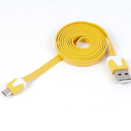 Clarkson® Hochwertiges USB Datenkabel flach für Acer Allegro in gelb Ge-allegro