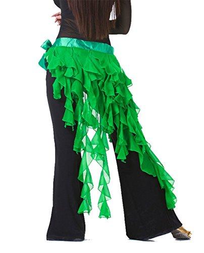 Dance Accessories Tribe Costume Danse du ventre costume Hip écharpe jupe chiffon Tassels Foulard Ceinture Dark Green