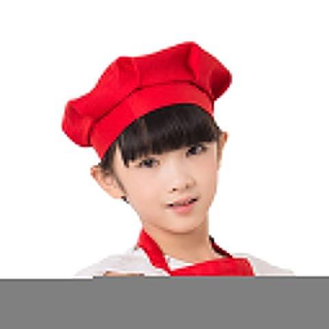 Befaith Adulte Enfants Mushroom Cap gâteau Chef cuisinier Chef de travail Chapeau Chef de Chapeau