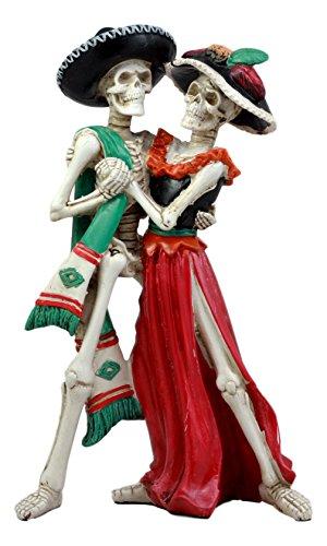 Ebros Großer Tag der Toten Hochzeit Dance Skelett Paar Figur Dias de Los Muertos Liebhaber Skulptur 30,5cm H