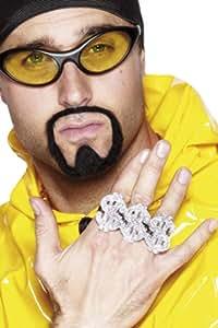 Smiffys 3-in-1 Dollar Rapper Ring - Silver