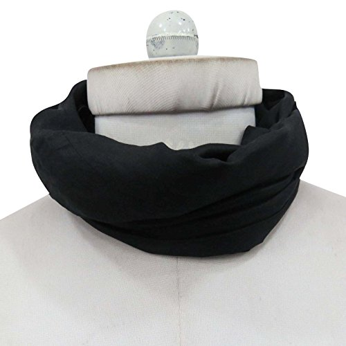 """Nouvelles 100% Soie Écharpe mode Long Indian femmes Wrap souple Écharpes 70 """"x 20"""" pouces Noir"""