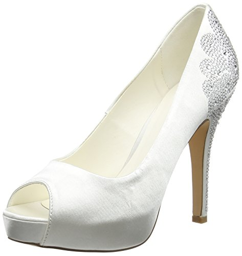 Menbur Wedding Damen Angelina Pumps, Elfenbein (Ivory), 38 EU