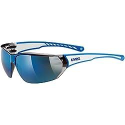 Uvex Sportstyle 204 - Gafas unisex, color blanco / azul