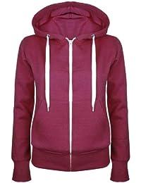 Up Town Veste sweat-shirt à capuche et fermeture Éclair pour femme Coloris uni