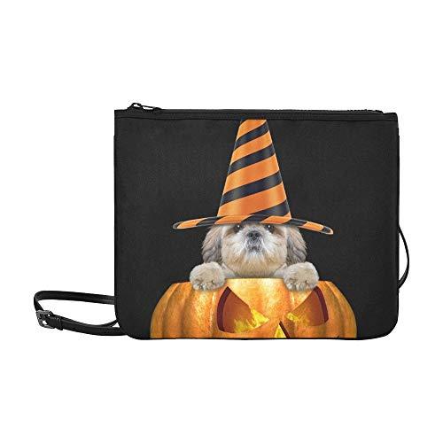ustige Hut sitzen Halloween benutzerdefinierte hochwertige Nylon dünne Clutch Bag Cross-Body Bag Umhängetasche ()