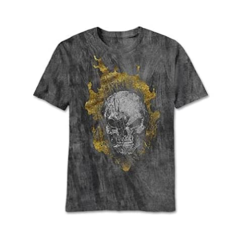 Ghost Rider Head Banger Charcoal River Wash T-Shirt | S