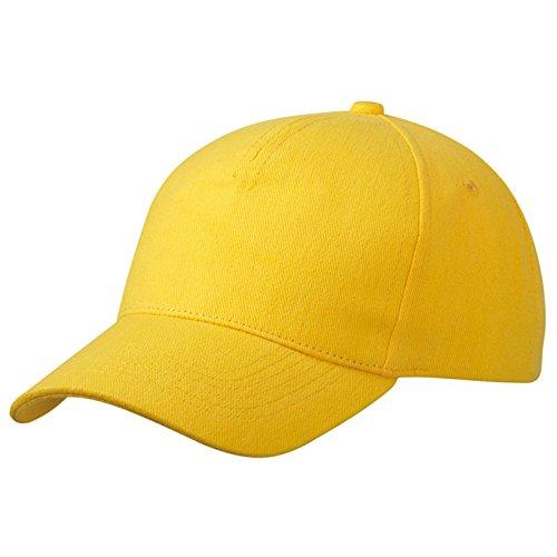 MYRTLE BEACH - Casquette coton lourd - MB092 - mixte homme / femme jaune-d'or