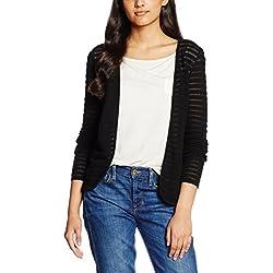 Only 15116277 - chaqueta punto Mujer, Negro (Black), 44 (Talla del fabricante: X-Large)