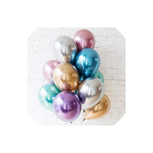 Sobre-mesa Gold and Black Latex Balloon Marble Metallic Balloon Balloons Wedding Adult Birthday Party Photography Props Decor,10 pcs All Mix 2/0 Gold Mix